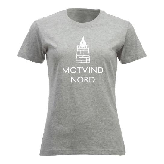 Motvind Nord T-skjorte med stort trykk i front.